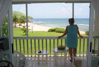 View from Caribbean Breeze Condo in St. Croix.